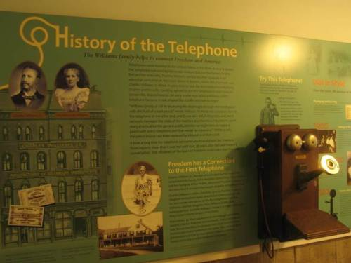 telephone exhibit poster