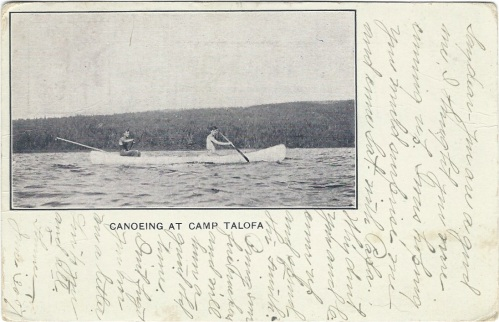 Canoeing at Camp Talofa side 1 1907